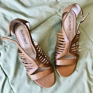 Tan High Heel Sandals